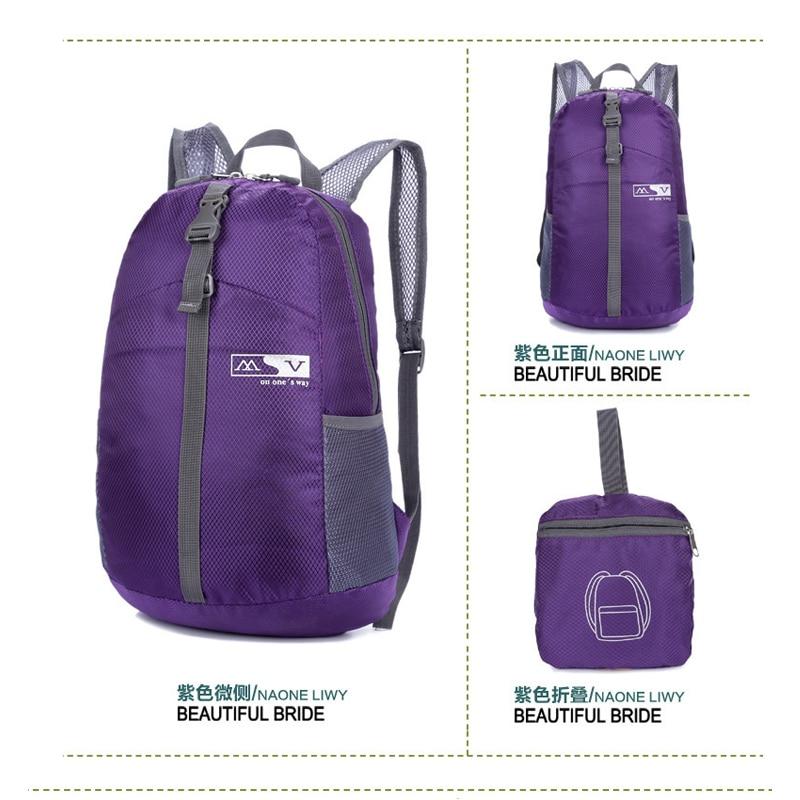 Nylon Folding Waterproof Fabric Waterproof women backpack travel backpack bag Men bag women backpack H181