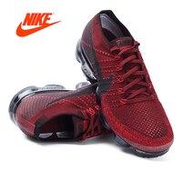 Оригинальные аутентичные Nike Air VaporMax Flyknit кроссовки Для мужчин дышащие спортивные сетки кроссовки Классические туфли удобные