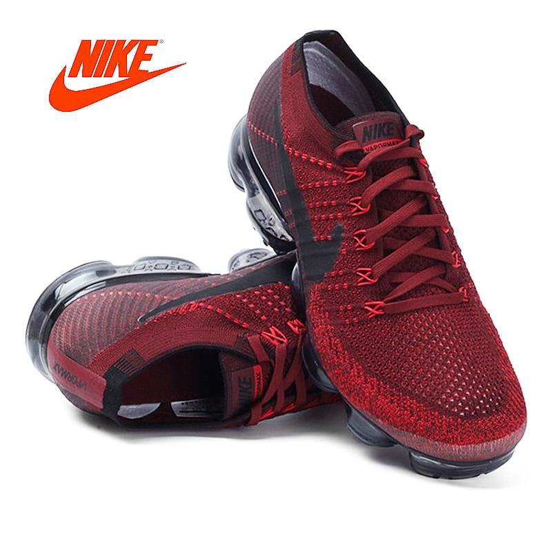 Original Et Authentique Nike Air VaporMax Flyknit Chaussures de Course Hommes Respirant Athletic Mesh Sneakers Classique Chaussures Confortable