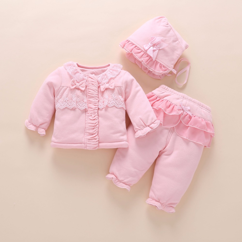 44cd03937397 newborn baby girl clothes winter warm coat thick cotton outerwear 3 pcs outfit  baby girls princess set roupa infantil Tags