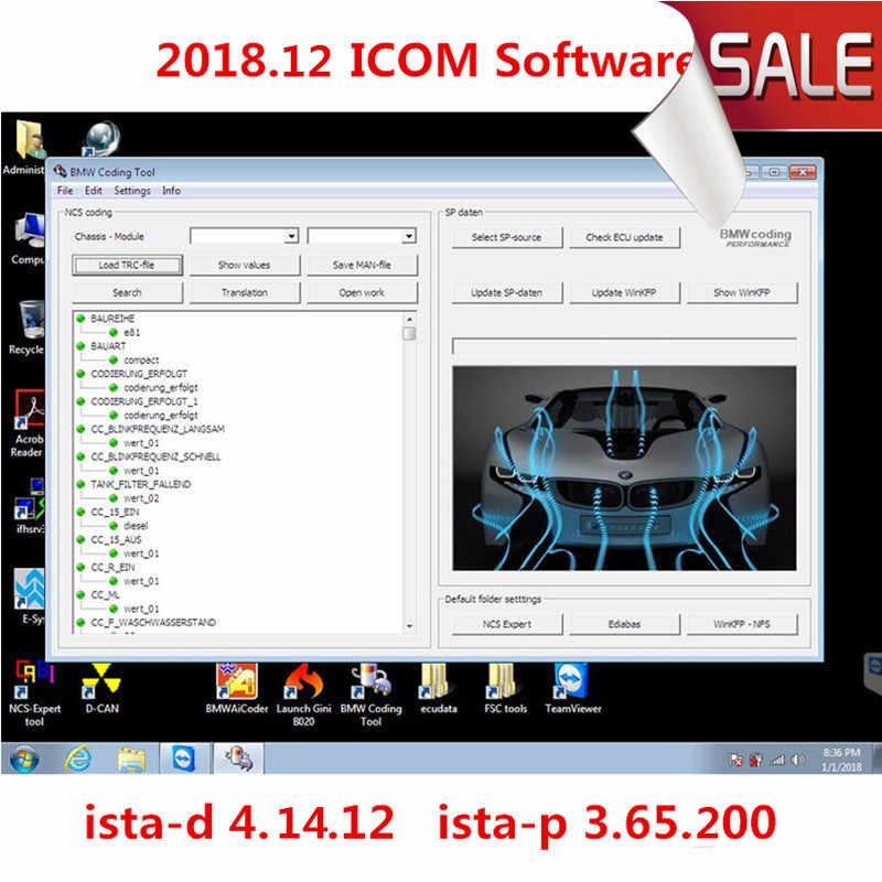 V2018 12 For BMW ICOM A2/A3 Software in ICOM SSD for BMW