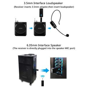 Image 5 - XIAOKOA Dual UHF Headset Wireless Microphone 1 Receiver 2 Headset and Handheld 2 In 1 Rechargeable for Teaching Voice Amplifier