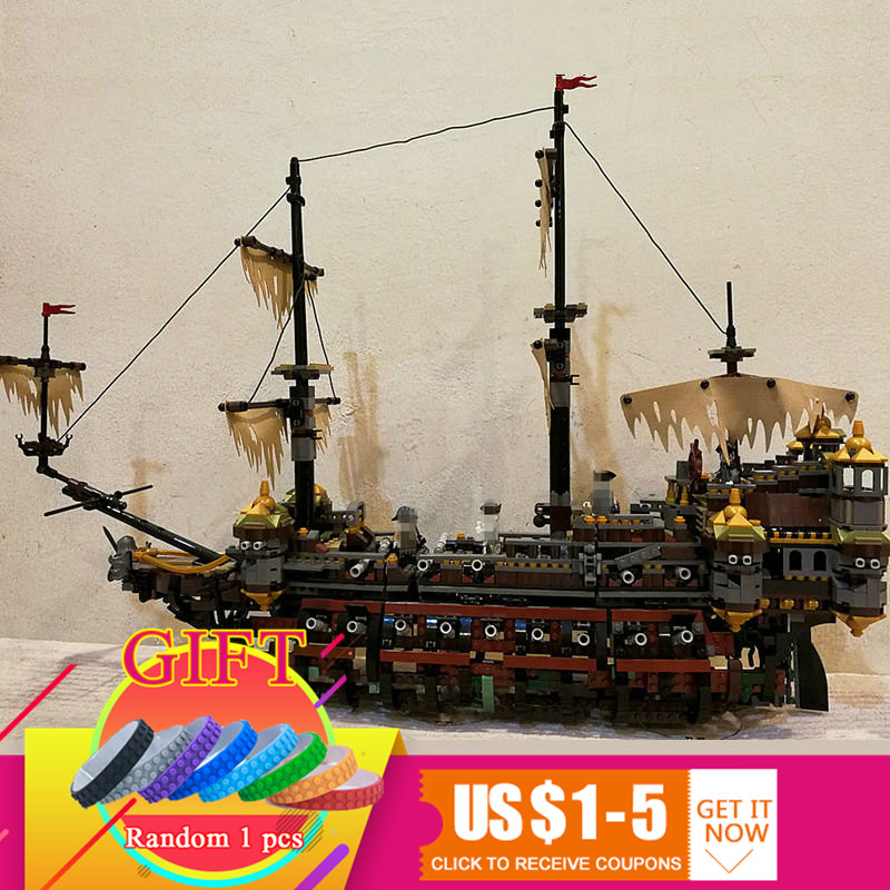 16042 2344Pcs Pirate Ship Series The Slient Mary Set Children Educational Building Model Gift 71042 Toys lepin 16042 2344pcs pirate of the caribbean ship slient mary children educational building blocks bricks compatible 71042 toys