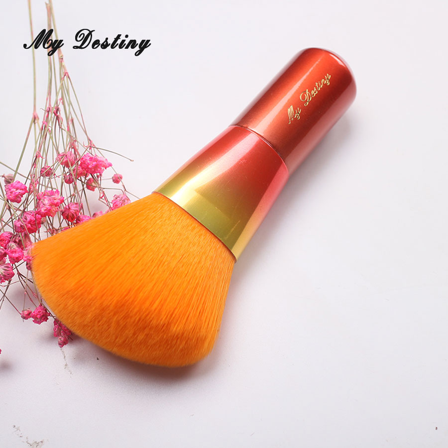 MY DESTINY Rainbow  Orange Angled Powder Brush Make Up Makeup Brushes Pincel Maquiagem Brochas Maquillaje Pinceaux Maquillage my destiny large ombre color powder brush professional make up makeup brushes pincel pinceis maquiagem maquillaje pinceaux p01