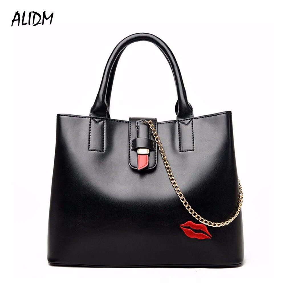 2018 Shoulder Crossbody Bag Lips Lipstick New Fashion Women Bag Messenger Bags High Quality PU Leather Handbags For Women Bag