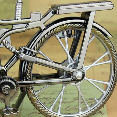 Casa decoração retro bicicleta despertador árabe numeral forma da bicicleta despertador criativo relógio de mesa legal despertador obras de arte