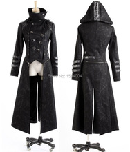 Punk Rave Fashion Womens Punk Streampunk Visual Kei Gothic Long&short Jacket Coat Hoodie Y364