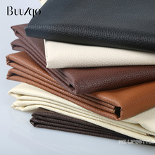 buulqo 25*34cm Small Piece Soft leather Big Lychee Pu Leather Faux embossed Nice PU for Sewing, artificial