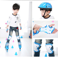 6 Pcs Kid Roller Skating Skateboard Elbow Knee Pads Wrist Protective Adjustable Guard Gear Pad Children