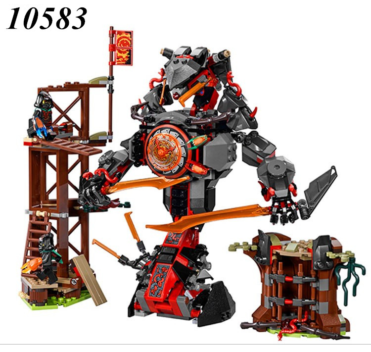 Bela 10583 734pcs Ninjago Dawn Of Iron Doom Figure building blocks Bricks toys for children Compatible Legoe Ninjagoes 70626 compatible with lego ninjagoes 70596 06039 blocks ninjago figure samurai x cave chaos toys for children building blocks