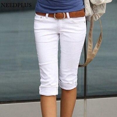 2019 Capri   Pants   Women Plus Size   Capris   For Women Elastic Cotton Stretch Pencil   Pants     Capris   Trousers Women Pantalon Femme