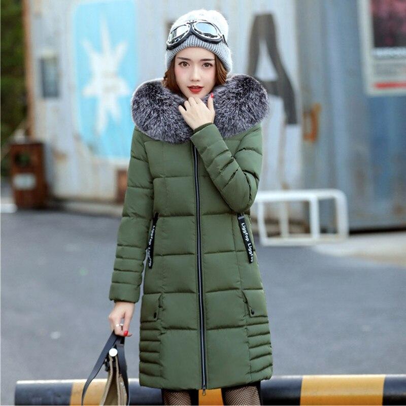 Damen Yagenz Size Winter Parkas Warme WeiArmeegr Fashion Plus Oberteile Damenjacke Mujer 2018 Langer Pelzkragen Beige 615 Mantel EDH2IW9