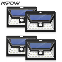 Mpow 24 Led Solar Lamp Security Motion Sensor Wide Angle Light Garden Yard Wall Eco Friendly