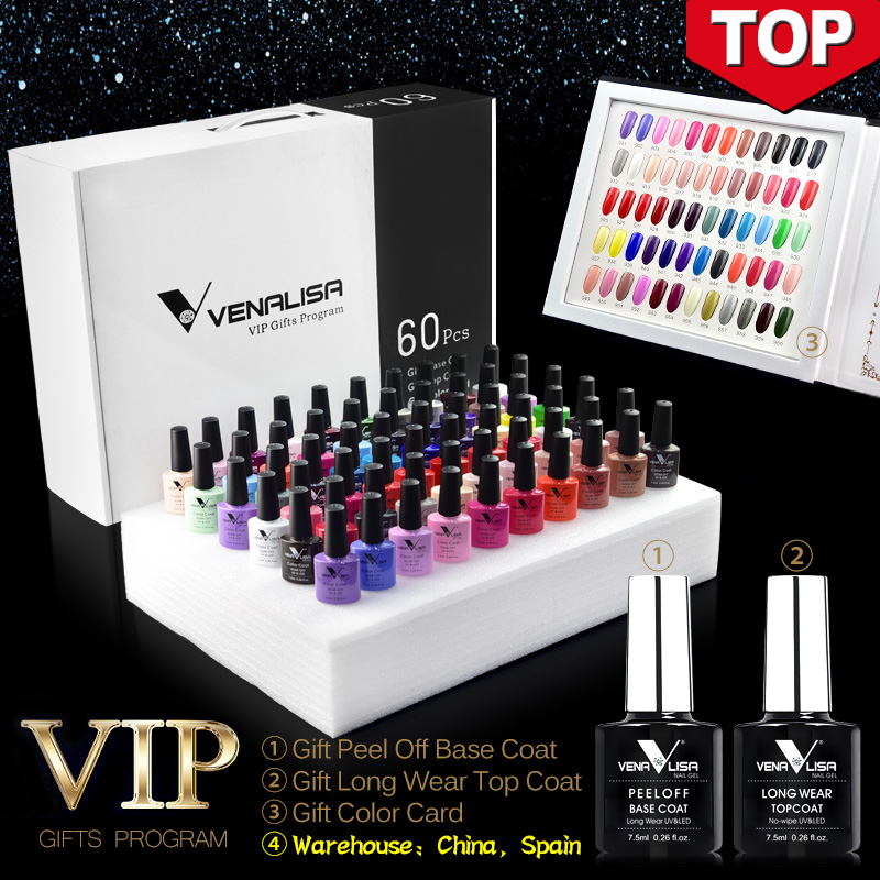 61508 2019 new 60 fashion color Venalisa gel polish vernish color gel polish for nail
