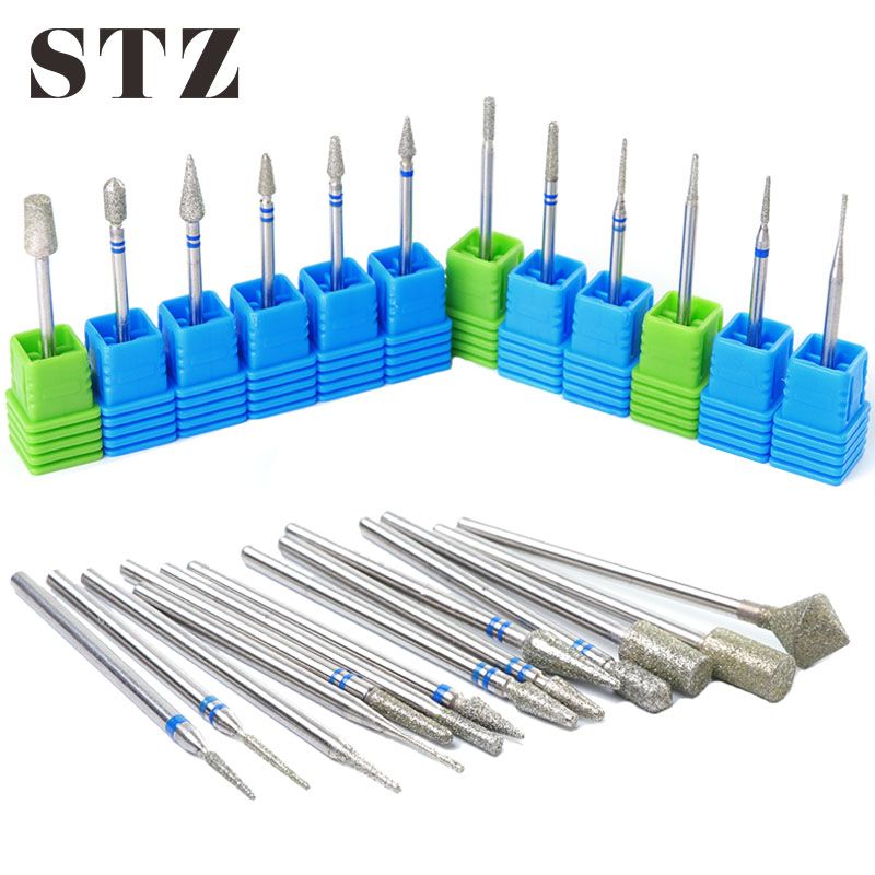 STZ 1pcs Milling Cutter For Manicure Diamond Nail Drill Bits Burr Milers Carbide Remover UV Gel Polishing Nail Art Tools #056-1