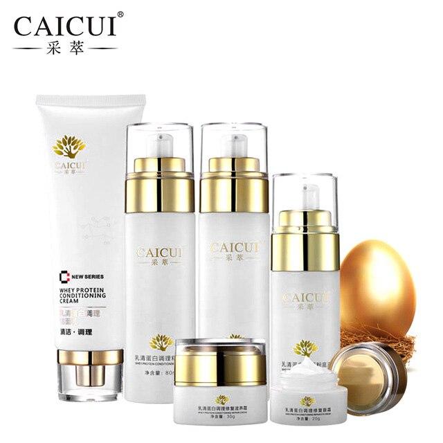 6pcs/set caicui hyaluronic acid firming moist face cream whitening skincare acne treatment blackhead anti wrinkle beauty ageless