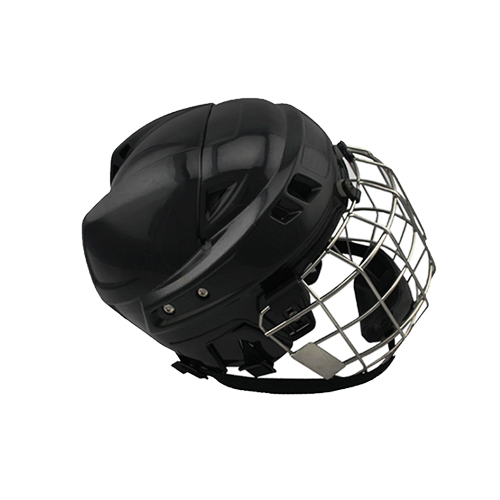Freeshipping 100% PP Black Ice Hockey Helmet Winter Full Mask Steel Cage free shipping high quality pp eva foam ice hockey helmet with black wire cage face mask