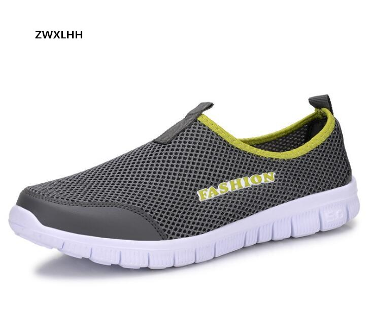 Men Casual Shoes 2017 New Summer Breathable Mesh Casual Shoes Size 34-44 Slip On Soft Men's Loafers Outdoors Walking Shoes bimuduiyu new england style men s carrefour flat casual shoes minimalist breathable soft leisure men lazy drivng walking loafer
