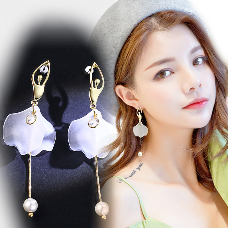 Elegant Long Drop Ballet Earrings for Womens zirconia Earrings 2018 New Arrive Accessories fine jewelry dangle Brincos