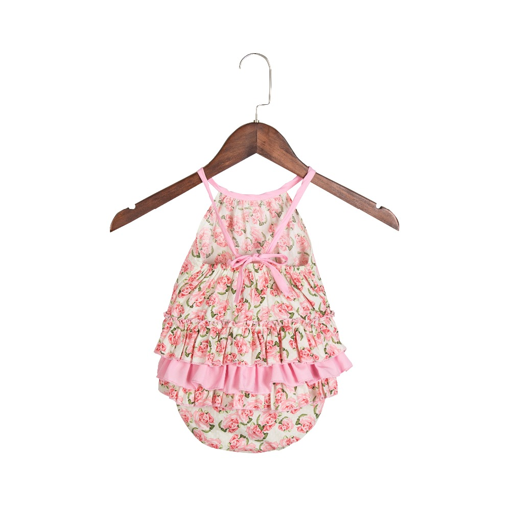 New Summer Style Vintage Bubble Romper Baby Girl Boutique