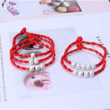 Kabbalah Red Rope String Bracelets Good Luck Amulet Buddhist Fashion Jewelry(China)
