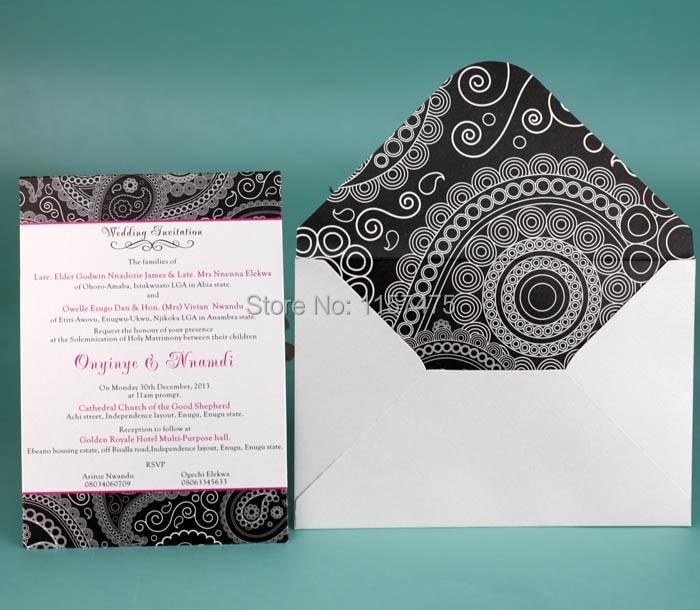Hi1037 Por India Style Black And White Wedding Invitation Card With Hot