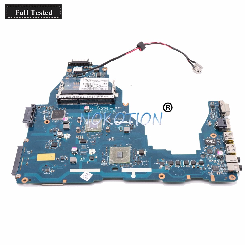 NOKOTION PWWBE LA 6849P REV 2 0 MB K000128540 K000115140 Main board for toshiba satellite C660D