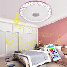 Ultra-thin LED ceiling Lights RGB Dimmable  36W  APP +Remote control Bluetooth Music light bedroom lamps Smart ceiling  lamp