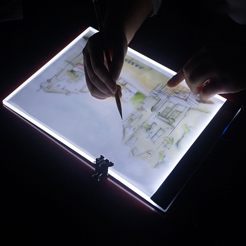 <font><b>Dimmable</b></font> <font><b>A4</b></font> Size <font><b>Led</b></font> <font><b>Light</b></font> <font><b>Pad</b></font> Tablet Diamond Painting Eye Protection Bright Copy Board Diamond Embroidery Drawing Tablet image