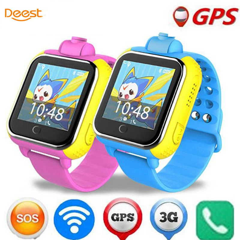 Deest JM13 3G Smart Watch Camera GPS LBS WIFI Kids Wristwatch SOS Monitor Tracker Alarm For IOS Android smartwatch pk q90 Q50 ds18 waterproof smart baby watch gps tracker for kids 2016 wifi sos anti lost location finder smartwatch for ios android pk q50
