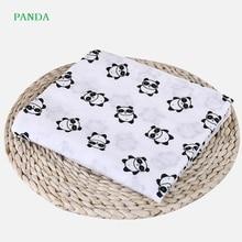 Muslin Newborn Baby Blankets Children Cotton Soft Supplies Infant Baby Multifunctional Wrap Swaddle 2 layers Gauze Bath Towel