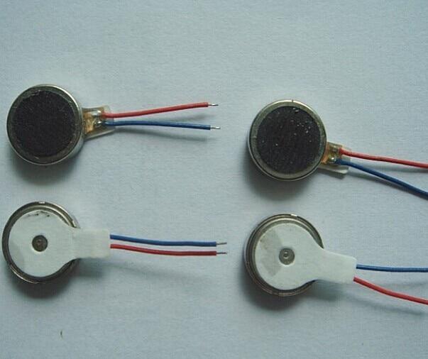 50pcs DC3V 0834 Mobile Phone Micro Flat Vibration Motor / Coin Motor / Mini Vibrator Motor Free Shippingm