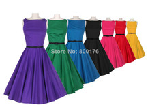 Free Shipping Rockabilly Pin Up Vintage 50 s Prom font b TARTAN b font ZIPPER DRESS