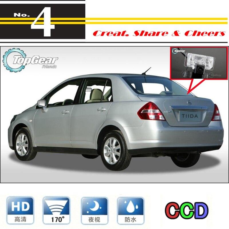 Auto Kamera Für Nissan Tiida Versa Latio Trazo C11 4D Limousine 2004 ~ 2012 Hohe Reverse Rückansicht Back Up kamera Für PAL/NTSC | RCA