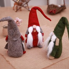 Soft Bearded Christmas Elf Decoration Supplies New Year Festival Dinner Party Decorations for Home P