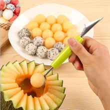 цена на Corrugated Carving Knife with Double Stainless Steel Fruit Ball Digger Kitchen Tool