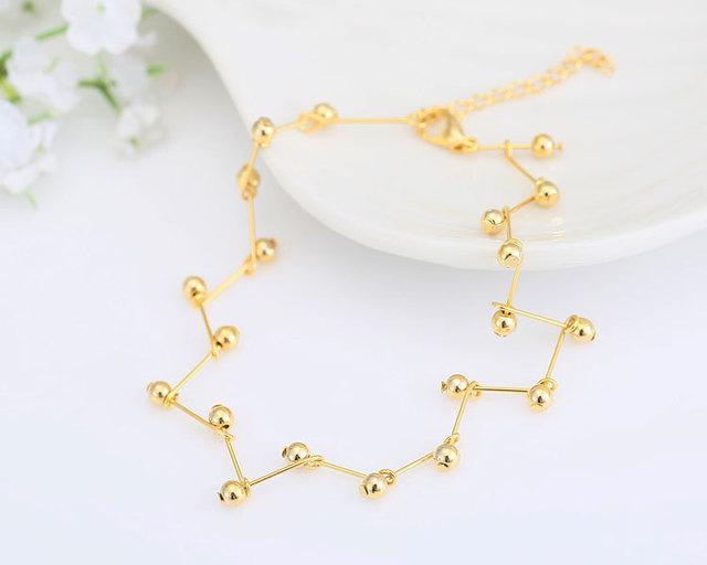 Gold Leg Bracelet Chain Bead Foot Jewelry Ankle Bracelets for Women Enkelbandje Tornozeleira Pulseras Tobilleras Mujer Cheville