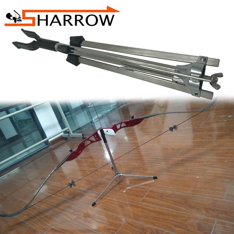 1 pièces tir à l'arc arc classique support traditionnel 3 jambes support en acier inoxydable arc Stand accessoires tir Sports de plein air