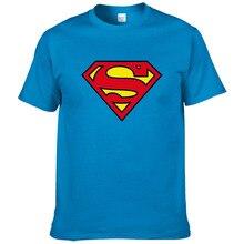 Модная мужская футболка Супермена, Летний стиль, короткий рукав, хлопок, повседневная брендовая футболка супергероя, крутые футболки#289