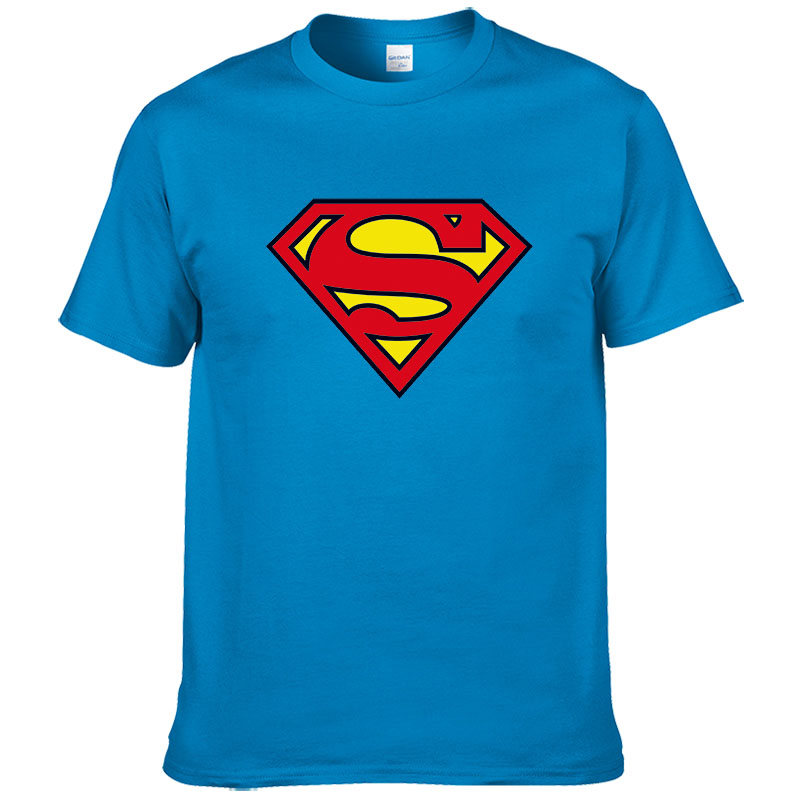 2019 Fashion Superman T Shirt Men Summer Style Short Sleeve 100% Cotton Casual Brand T-shirt Superhero Tops Cool Tees #289