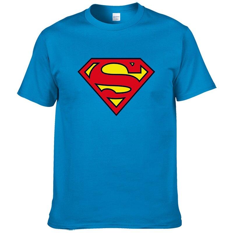 2019 Fashion Superman T Shirt Men Summer Style Short Sleeve 100% Cotton Casual Brand T-shirt Superhero Tops Cool Tees #289