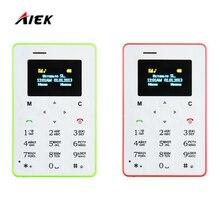 Горячие Мини телефона карточки AIEK M5 Цвет Экран английский/русский/арабский клавиатура сотового телефона 4.5 мм ультра тонкий карман для мобильного телефона