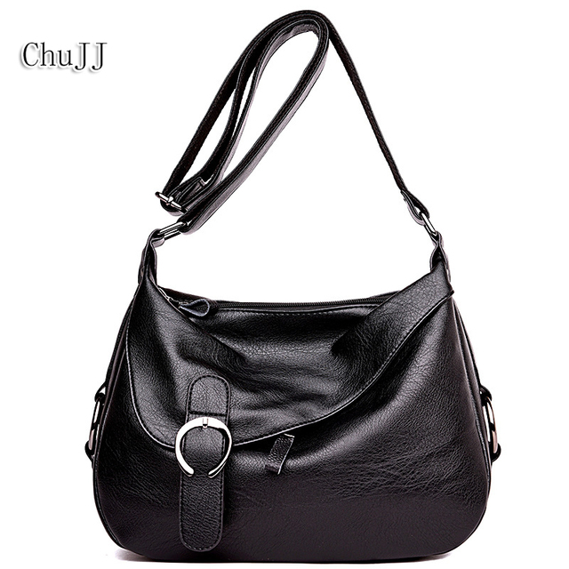 a779df3861e Chu JJ Women s Leather Handbags Fashion Patchwork Shoulder CrossBody Bags  Ladies Fashion Messenger Bag Big Size Hobos Women Bags