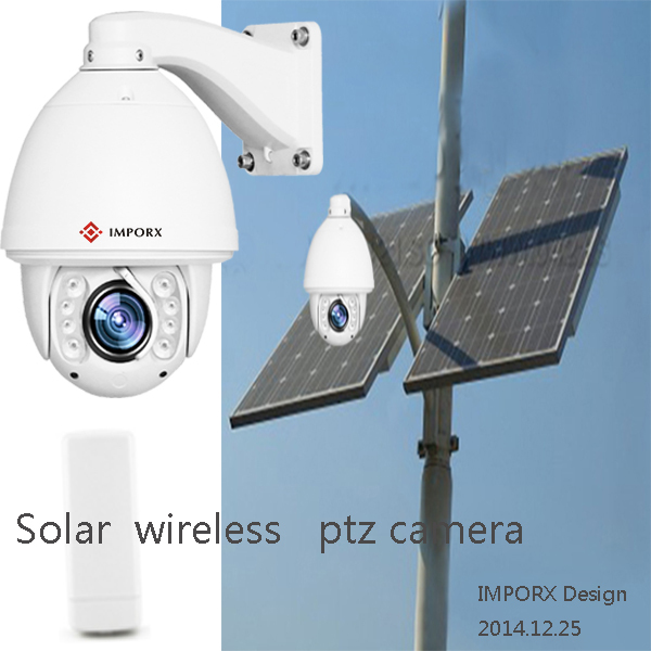 2017 Hot Sell WIFI CCTV PTZ IP Camera with Solar Panels System Wireless Bridge Controlle ...