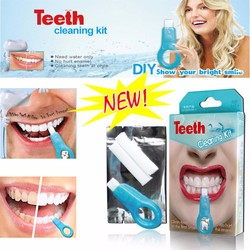 New Teeth Whitening Cleaning Kit with Cleaning Pen Sponge and Nano Cleaning Strips Oral Hygiene Cigarette Stains Remover TSLM2