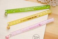 15CM Lovely Slim ruler PVC Beans straight ruler Tool Promotional Gift For Kids Student gift Stationery office school supplie