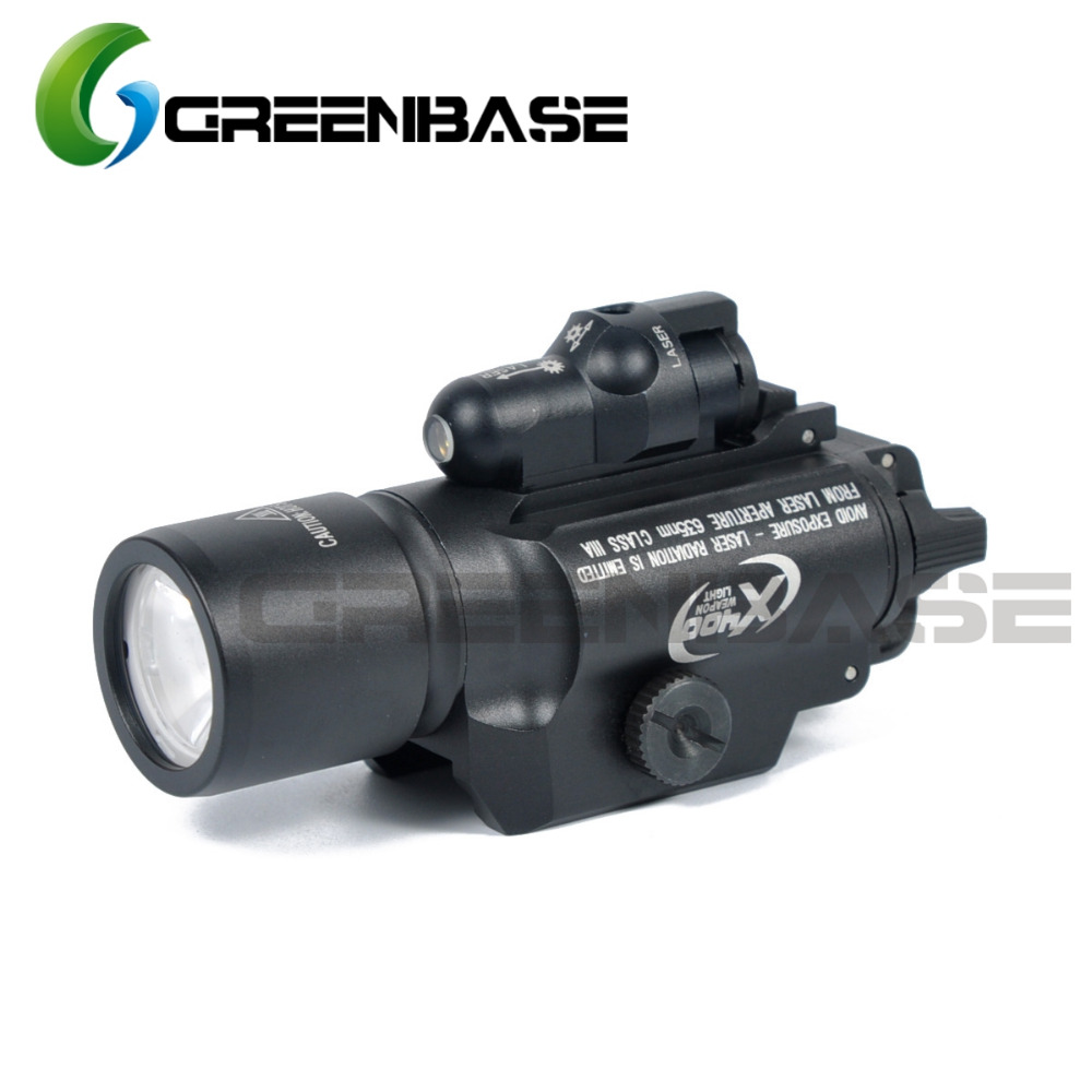 Greenbase Hunting Tactical SF X400 Red Laser Sight Light Gun Flashlight LED White Light / Red Laser / Laser Combo Flashlight цена