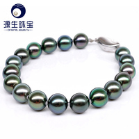 YS Pearl Jewelry Black Green Multi Color Cultured Tahitian Pearl Bracelets