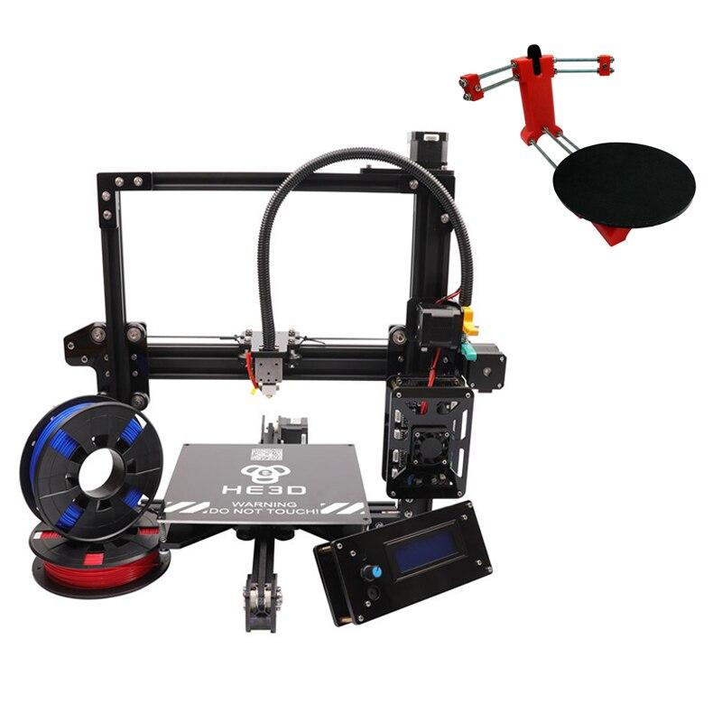 set sale,2018 auto level V slot HE3D EI3 single metal extruder 3D printer DIY kit,adding Red open source 3d scanner DIY Kit цены
