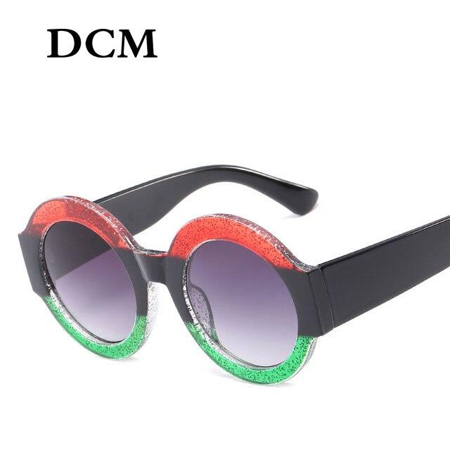 DCM Luxury Vintage Round Sunglasses Women Brand Designer Circle Round Sun Glasses Female UV400